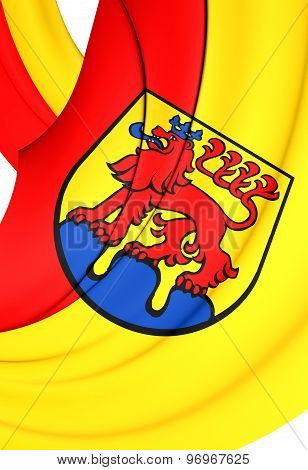 Flag Of Calw City, Germany.