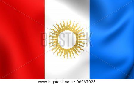 Flag Of Cordoba Province, Argentina.