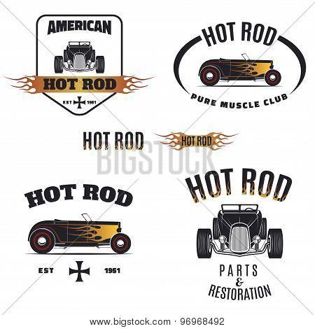 Hot Rod Flame Color Emblem