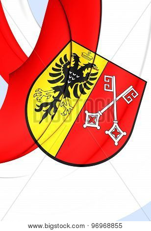 Flag Of Minden City, Germany.