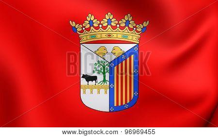 Flag Of Salamanca City, Spain.