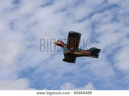 Thiene, Vicenza - Italy. 26Th July, 2015: Amazing Hen Airplane With Head In The Sky