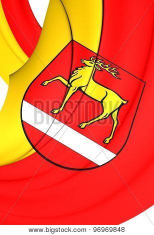 Flag Of Sigmaringen Kreis, Germany.