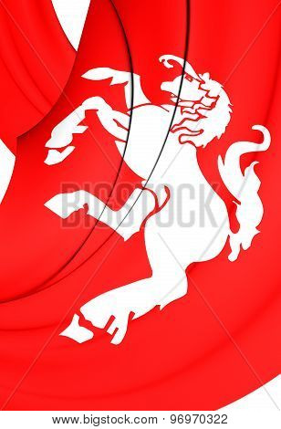 Flag Of Twente Region, Netherlands.