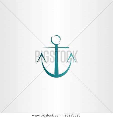 Stylized Anchor Icon Design