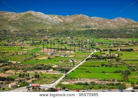 Green Rural Landscape At The North Of Majorca
