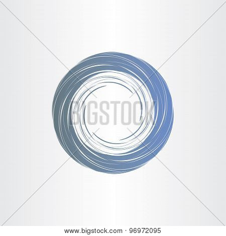 Dark Blue Tornado Abstract Background