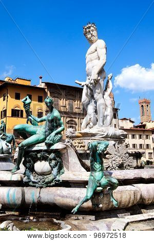 Neptune Statue In Florence
