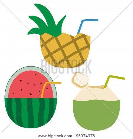 illustration art icon set fruit juice