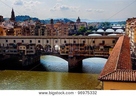 The Ponte Vecchio. Florence. Italy