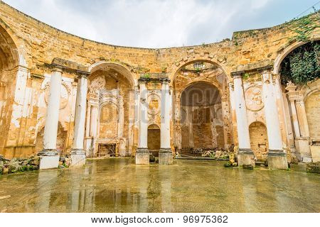 Sant'ignazio Church Ruins In Mazara Del Vallo, Sicily