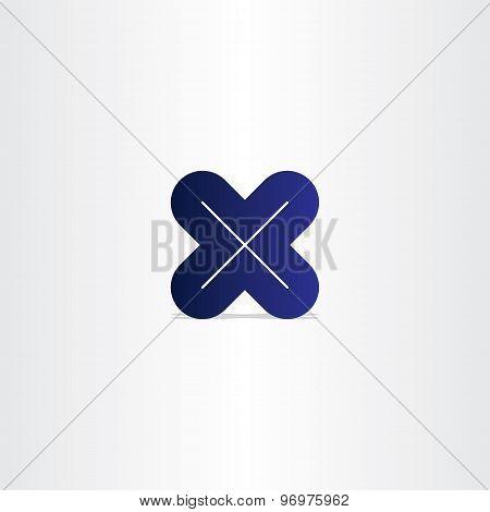 Blue Letter X Logotype Vector
