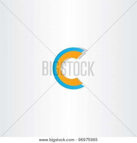 Blue Orange Letter C Logotype