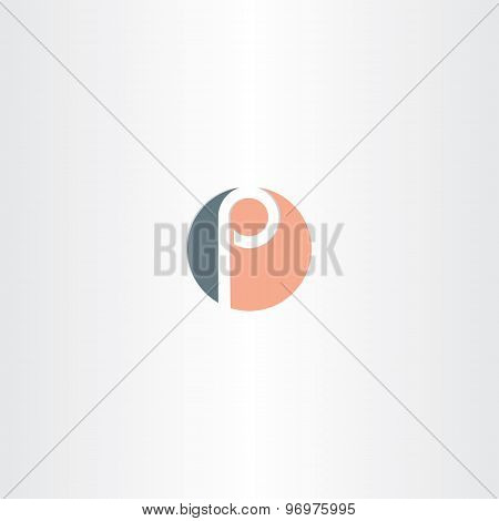 Circle Icon Letter P Vector Logo Symbol Element