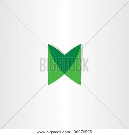 Green Letter M Logotype Vector Design