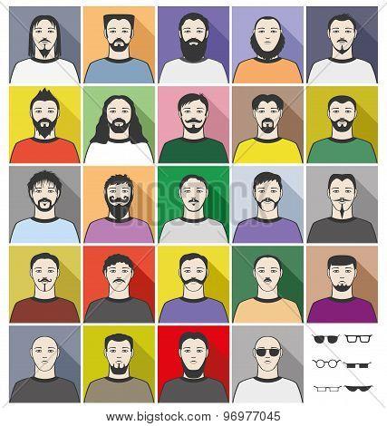 Bearded men.