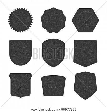 Different shapes collection for design, black shields