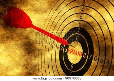 Fraud Target Concept On Grunge Background