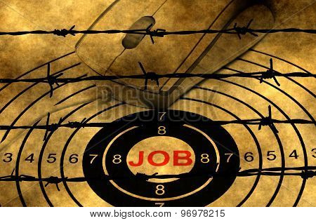 Web Job Target Against Barbwire