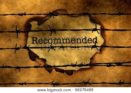 Recommended Concept Against Barbwire