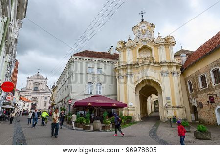 Gates Of Basilian Monastery And Church Of Saint Therese On Ausros Vartu, Vilnius