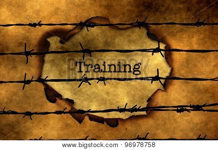 Training Concept Against Barbwire