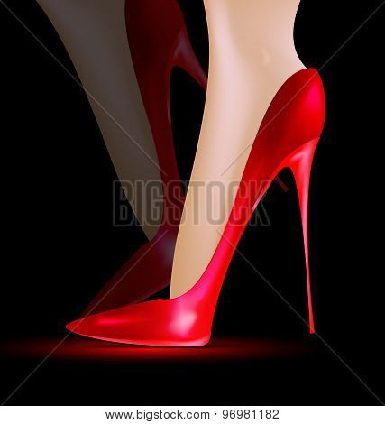 Feet In The Red Shoes