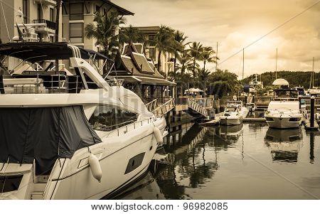 Scenery At Yacht Marina