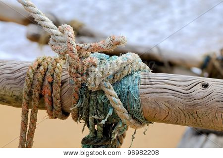 Rope On Fishing Ship
