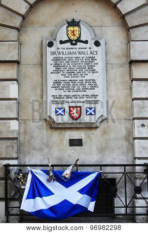 William Wallace (Braveheart) plaque