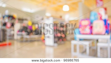 Blurred Image Of Shopping Mall A