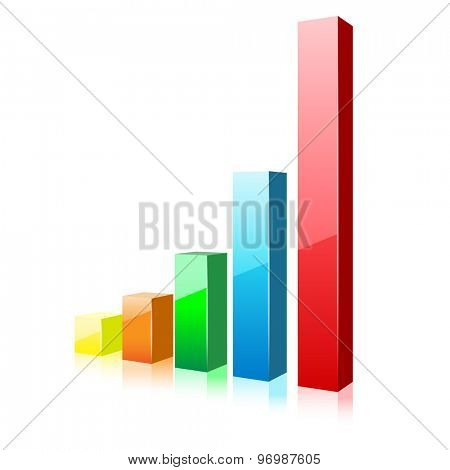 Business Chart Icon on a white background. Illustration. Vector EPS10.