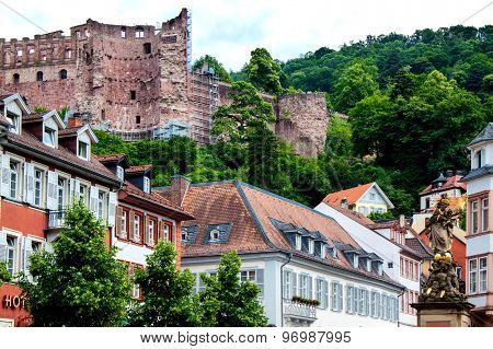 Heidelberg Castle In Germany