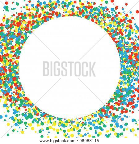 Confetti multicolored circle. Celebratory Background. Illustration Vector EPS10