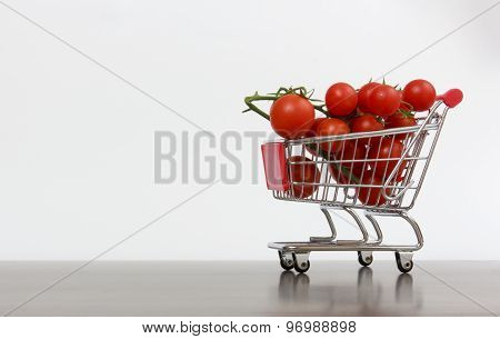 Shopping Cart With Tomatoes