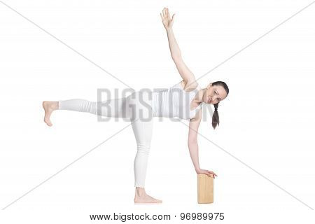 Yoga With Props, Pose Parivritta Ardha Chandrasana