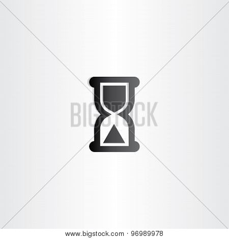 Black Sand Clock Icon Time Concept