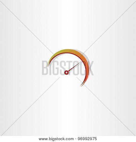 Speedometer Icon Vector Element