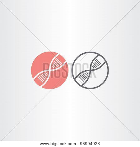 Dna Circle Icons Vector Design