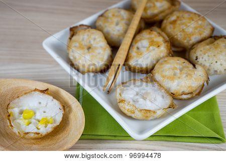 Thai Sweetmeat Call Kanom Krok In Thai