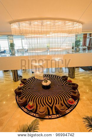 Hotel lobby with modern design