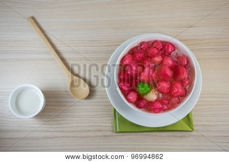 Crisp Pomegranate Seeds Is Thai Sweetmeat On The Table