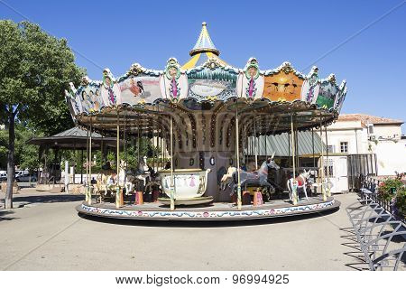 Vintage Wooden Carousel