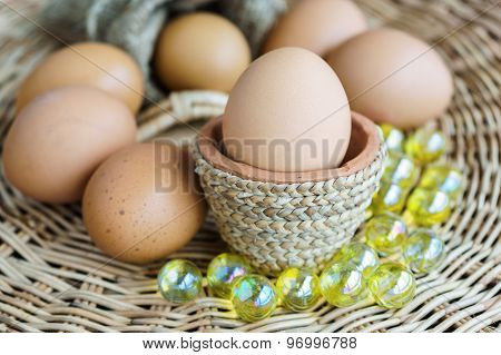 Heap Of Chicken Eggs, Easter Eggs
