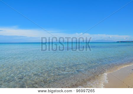 Beautiful Turquoise Crystalline Mediterranean Sea And White Sand