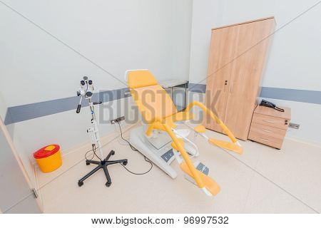 Gynecology room in the hospital