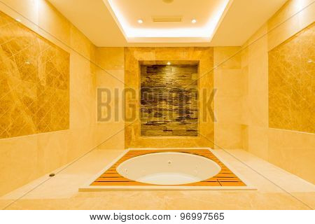 Bath tub in the modern interior