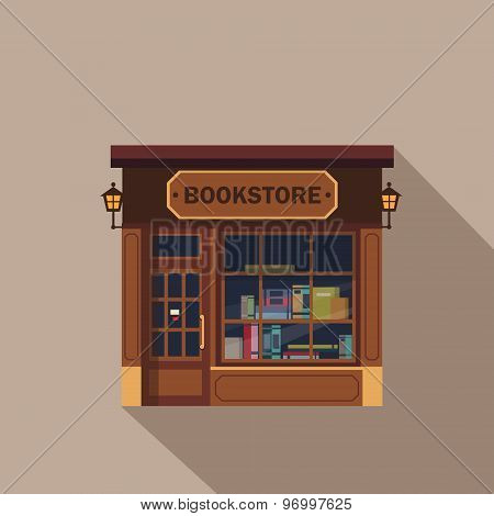 Restaurants and shops facade, storefront vector detailed flat