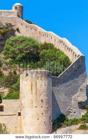 Citadel At Bonifacio, Corsica Island, France