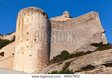 The Citadel At Bonifacio Above Deep Blue Sky